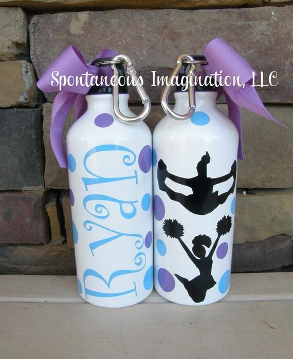 Cheer Water Bottle, Cheerleading Water Bottle, Cheer Gifts, Cheerleading Gifts, Personalized Sport Water Bottle, Custom Water Bottle