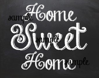Home Sweet Home Chalkboard Sign Wall Art Home Decor Printable 3 Pack 8x10