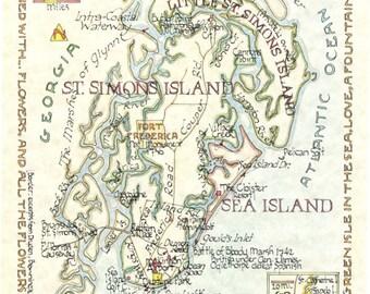 St. Simons, Sea Island, Little St. Simons, GA (Two Sizes)