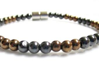 Magnetic Hematite Copper Bracelet, Magnetic Bracelet, Magnetic Copper Bracelet, Magnetic Therapy Bracelet