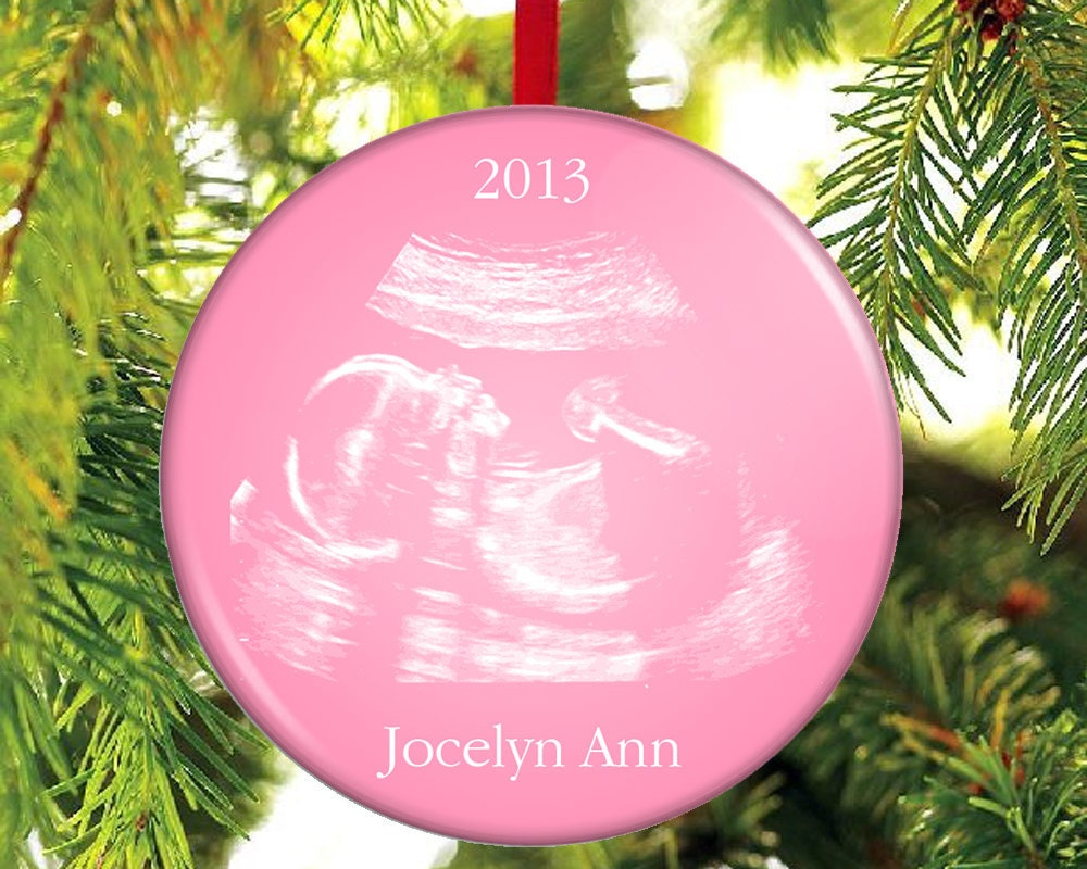 Christmas ornament expecting baby -  Zoom