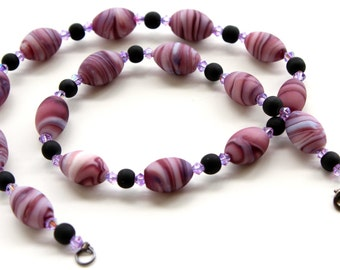 Purple Swirl Necklace