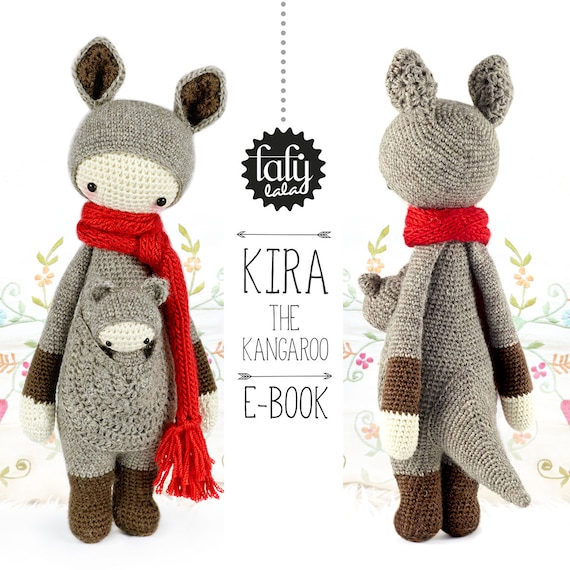 KIRA the kangaroo - lalylala amigurumi crochet PATTERN - ebook