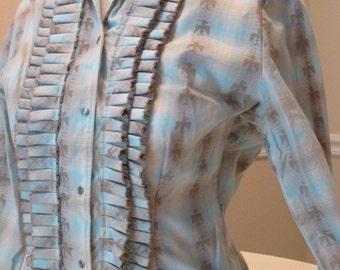 Big E Levi's Western Wear Blouse. Rockabilly Clothing. Ladies Western Wear