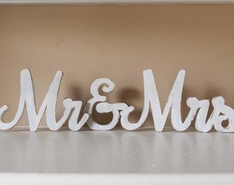 Mr And Mrs Wedding Sign Wood Sweetheart Table Decor Rustic