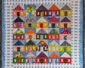 25 Houses wall quilt