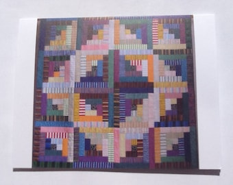 Set of 10 Sara's #6 in Stripes quilt note cards (folded)