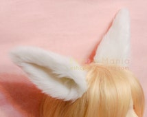 Bendable 16cm WHOLE ear fur BIG WOLF Ears cat fox ears hair clip /headband,wire inside posable,Cos Snow Fox Wolf,Halloween Costume Party