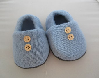 Infant's lambswool slippers fleece-lined sizes 3-6 mos. and 6-9 mos. RTS