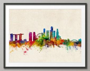 Singapore Skyline, Art Print (1062)