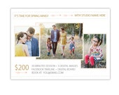 INSTANT DOWNLOAD - Spring Mini Session template - Photoshop template - E990