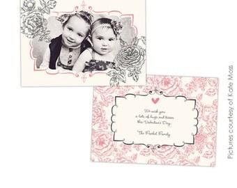 INSTANT DOWNLOAD -  Valentine Photoshop Template - Gardens - E269
