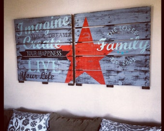 Hand Painted Repurposed Wood Pallet