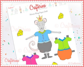 Mouse King from The Nutcracker Paper Doll Craft Kit - DIY Print and Create - Educational Activity - Ballet and Dance