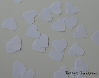 White. Heart Shape. Paper Goodies. Punch Out.