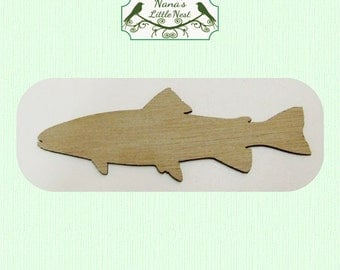Fish (Small) Wood Cut Out -  Laser Cut