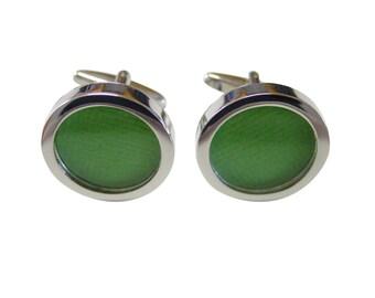 Textured Light Green Colored Classic Cufflinks