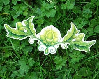 Acorn Temporary Tattoo - Acorn Leaf Tattoo - Fairy Tattoo - Nature Tattoo - Acorn Tattoo