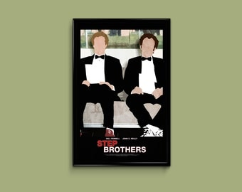 Step Brothers 11 x 17 Minimalist Movie Poster
