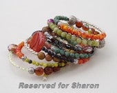 Amanda... Reserved for Sharon  One of kind memory wire bracelet... Original OceanBead style.