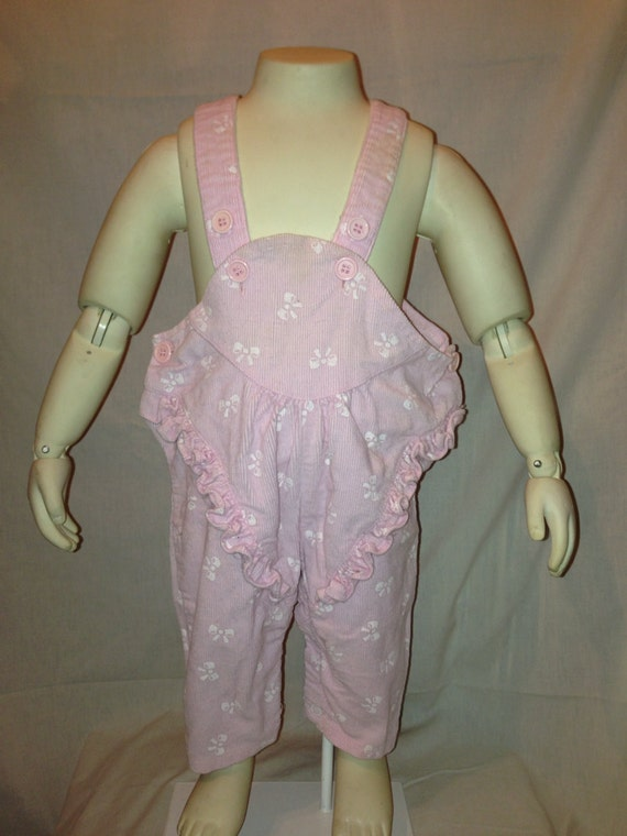 Vintage 80s Babies Pink Bow Overalls Sale