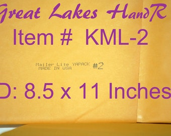 "13 KML-2, Kraft Bubble Cushioned Envelope Mailers, OD: 9.25"" x 11"""
