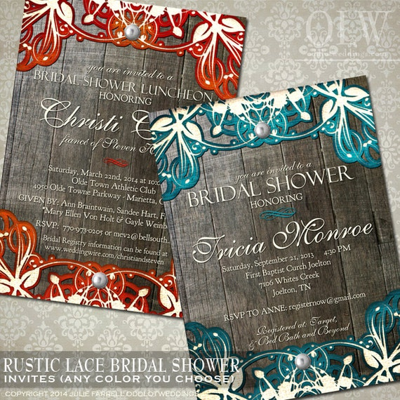 Rustic Bridal Shower Invitation Doily Lace Bridal Shower Invitation Vintage Lace DIY Rustic Bridal Shower Invitation Digital Bridal Shower