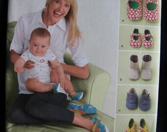 Simplicity Misses and Babies Shoes Pattern 2278 UC Uncut FF s m l