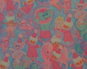 Vintage Bright Pink and Blue Birthday Gift Wrap