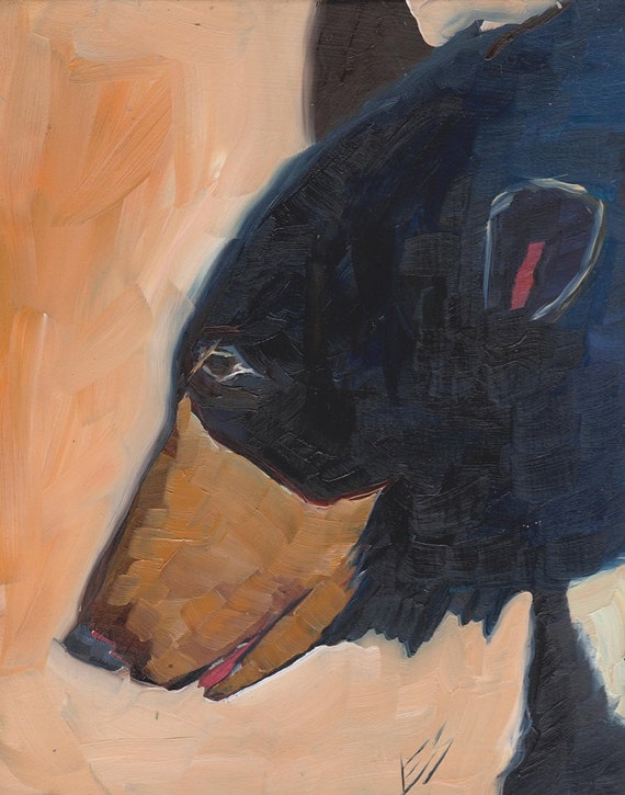 Black Bear Original Oil Painting