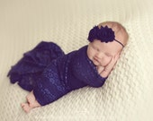 Blue Lace Stretch Wrap, Newborn Wrap, Blue Newborn Wrap, Stretchy Wrap,  Soft Baby Wrap, Newborn Photo Prop