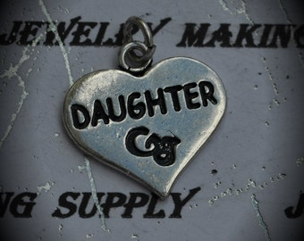 Daughter Sterling Silver Plated Charm