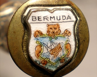Silver Plated Pickle Spear and Ejector Marked Bermuda