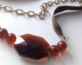 Brown Tie On Belt or Necklace