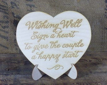 Wedding Guest Book Sign Rustic Sign Gift Table Sign Large Heart Wooden Engraved Wedding Signage