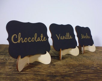 4 Personalized Wedding Signs with Stand Dessert Bar Signage Table Numbers Wedding Table Decor, Wedding Table Signs Customized Wedding Signs