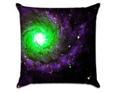 """Galaxy (2) - Photo Sofa Throw Pillow Envelope Cover for 18"""" inserts"""