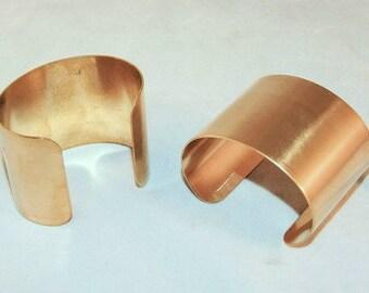 Brass Bracelet Cuff Blanks For Jewelry Making 2 inch Pkg Of 2