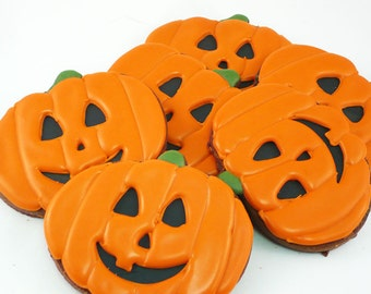 Decorated Cookies - Halloween - Jack O Lantern - 1 dozen