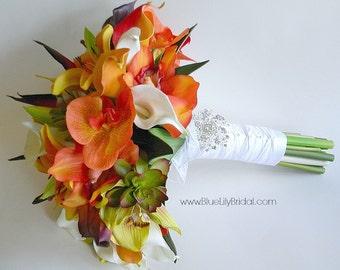 Costa Maya  Beach Wedding Bridal Bouquet- Extra Large Size Tropical Beach Wedding
