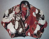Teddy Bear Bears Beary Good Sweater Jacket Coat Blazer Tacky Gaudy Ugly Christmas Party X-Mas One Size Made In USA Texas Winter Warm L Large