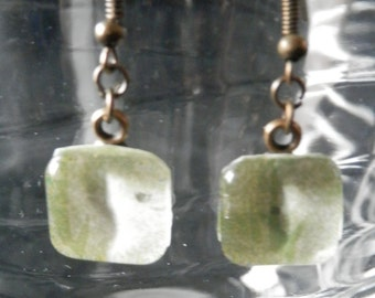 Muted Green Earrings