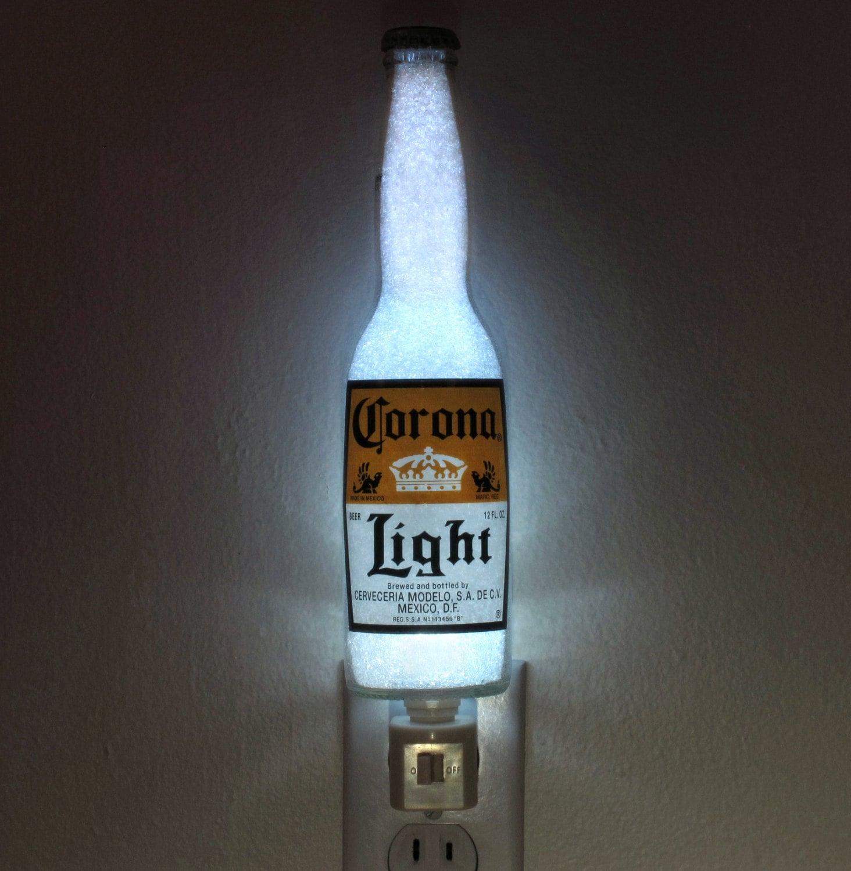 Corona Light Beer 12oz Night Light Bar Light Bottle Lamp