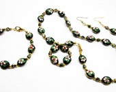 Black Cloissone' Jewelry Set
