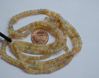Ethiopian  Opal Rondelle Smooth