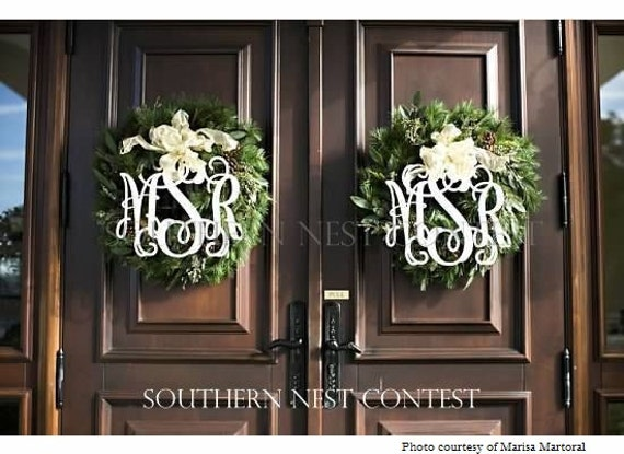 """Medium (14"""") Wooden Monogram-Ready to Paint-Perfect for Spring Wreaths and more"""
