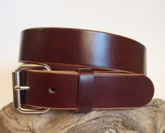 s heavy duty leather belt brown 1 75 wide by