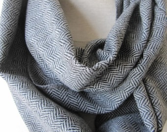gray Grey herringbone infinity scarf,super warm soft scarf,man winter fashion scarves- scarves2012 Turkey-men's scarves - man fashion gifts