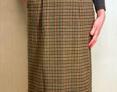 Tweed Secretary Skirt - Vintage Size 12/14 Skirt