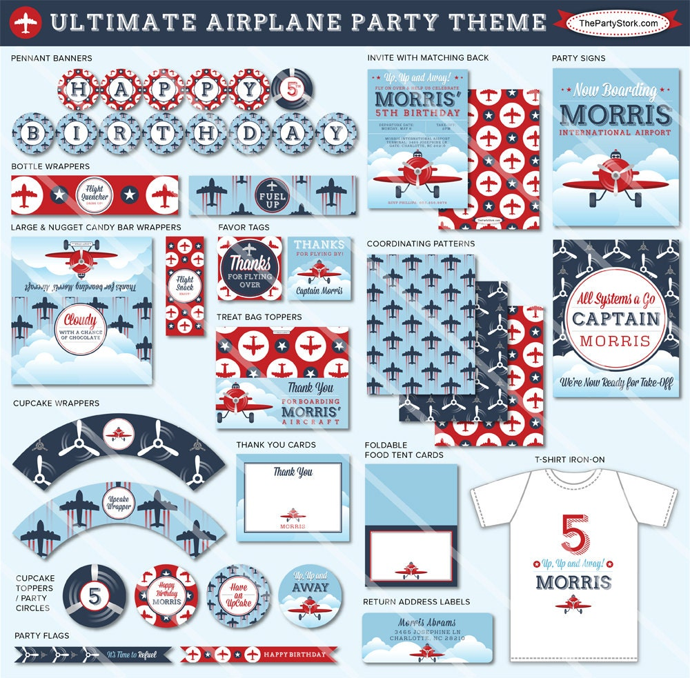 Airplane Birthday Invitation Diy Printable By Vindee On Etsy: Airplane Invitation Boy Invitations Airplane Party Airplane